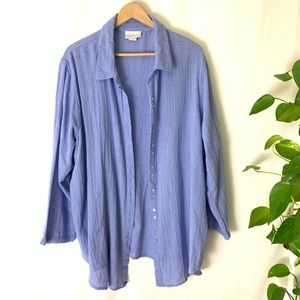 Soft Surroundings Button Up Top